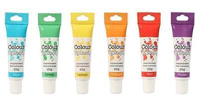 Colour Splash Colorante Alimentario Arcoiris Gel Juego 6