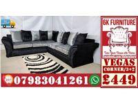 SOFA LUXURY **VEGAS SOFA* Cheapestt Price also foot stool swivel chair or 3+2/Corner sofa 90784