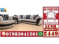SOFA LUXURY *LUSH SOFA* Cheapestt Price also foot stool swivel chair or 3+2/Corner sofa 928