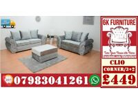 CHEAPEST PRICE *CLIO SOFA* LUXURY SOFA 3+2/Corner sofa SEATER 1845
