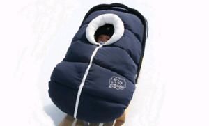 P'tit Coulou Winter Infant Carseat Cover in Navy Blue - EUC
