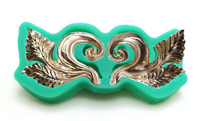 Leaves Leaf with Scroll 2 Cavity Silicone Mold for Fondant, Crafts etc.](Crafts With Leaves)