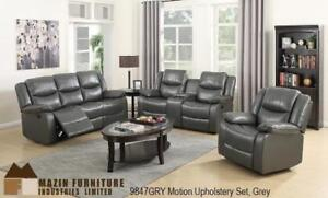 Grey 3 PC Recliner Set with Cupholders MA10 9847GRY-1 (BD-1368)