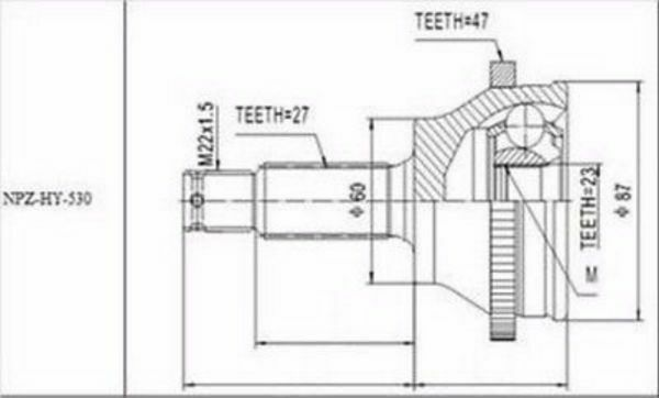 Joint Set Outer HYUNDAI SONATA EF 2.0, 2.4, 2.5, 2,7 ATM 1998-2004 NEW