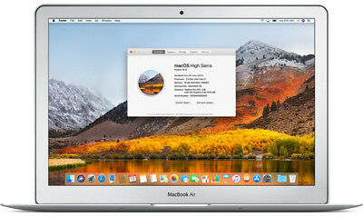 "Apple MacBook Air 11.6"" Intel i5 Dual-Core 4GB RAM 128GB SSD iTunes High Sierra"