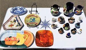 Lot de vases, assiettes, porcelaine, poterie à vendre