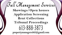 PROPERTY MANAGEMENT! YOUR PROPERTY, YOUR TENANTS 365 DAYS A YEAR