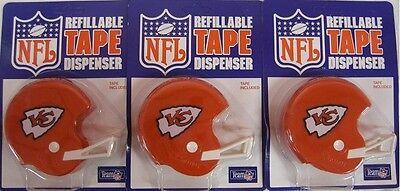 3 KANSAS CITY CHIEFS NFL TAPE DISPENSER HELMETS football toy novelty cool G35k](Toy Football Helmets)