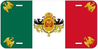 Mexican Empire Flag 1864-67 Aluminum Auto License Plate Car Novelty