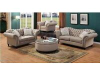 LIMITED SALE ON CHESTERFIELD 3+2 SEATER PLUSH VELVET SOFA BOOK NOW