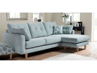 WANTED!!Duck egg / pale blue corner sofa