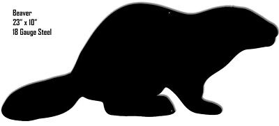 Beaver Animal Silhouette Laser Cut Out Metal Sign 10x23