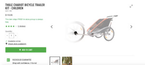 WANTED***** THULE CHARIOT BICYCLE TRAILER KIT