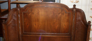Stunning Antique Wrap Around Headboard and Footboard French Bed