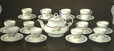 12 Pers. Tolles Teeservice Service von Carl Tilsch Altwasser ca. 1870-1890
