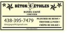 FINITION DE BÉTON 5 ÉTOILES 438-395-7479