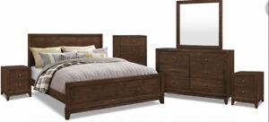 8 piece set - King Size Pine Wood Bedroom Set