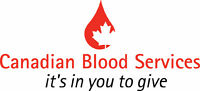 Canadian Blood Services requires in-clinic volunteers