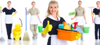 Maria with family cleaning services $20