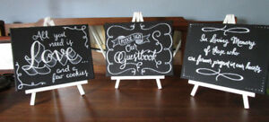 Wedding Signs, Table Numbers, Pompadours