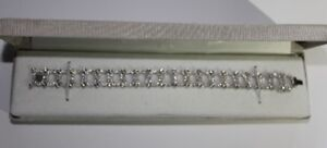 294 diamond 14kt White Gold Bracelet 2.5 TCW