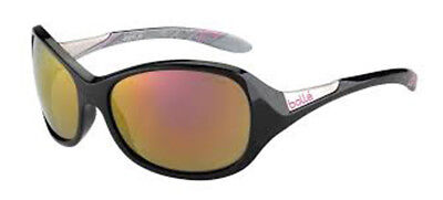 Bolle Grace Sunglasses - 12101 - Shiny Black Frame w/  Silver Rose Gold Lens