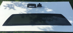 Window (rear) and tailgate handle for 2011 Chevy Silverado.