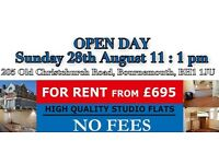 *NO AGENTS FEES* brand new flats! Only a few left! Open day this Sunday - All studios!