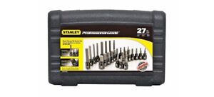 MINT Stanley 27 Pc Black Chrome Hex Bit Set Professional Grade