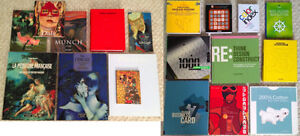 Various arts and graphic design books