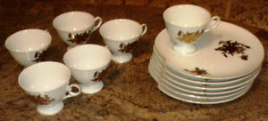 Vintage snack plate and tea cup luncheon set