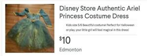 Disney's Ariel Costume Dress Size 5/6