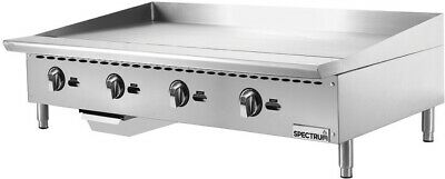 48 Commercial Manual Control Gas Countertop Griddle Flat Top Grill Nat Or Lp