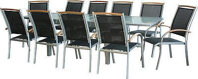 Premium DIPLOMAT Gartengarnitur | 4 Kombinationen | Gartenmöbel Ausziehtisch
