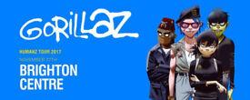 GORILLAZ - BRIGHTON CENTRE STANDING TICKETS, 2 AVAILABLE, 27TH NOVEMBER 2017