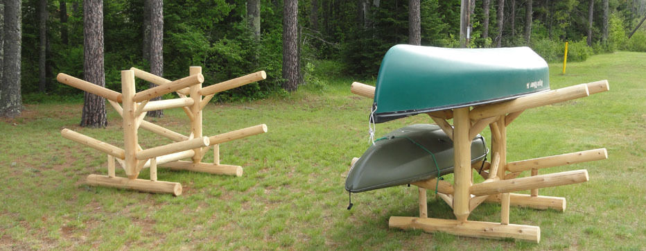 Log Kayak Racks