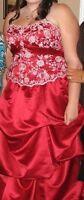 Cranberry Prom Dress
