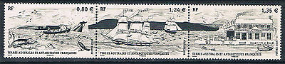 French Antarctic/TAAF 2016 Whaling Fleet 3v MNH