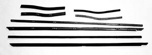 NEW! 1969-1970 Mustang Beltline Weatherstrip Convertible 8 Pc Door Kit 8 pc set