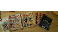 Massive Bundle The Beano & The Dandy comics over 20 years old