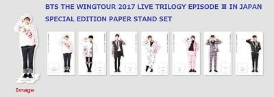 BTS THE WINGS TOUR LIVE TRILOGY EPISODE Ⅲ JAPAN SPECIAL EDITION PAPER STAND SET
