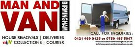 COLLECTION OR DELIVERY - REMOVALS - MAN AND VAN BIRMINGHAM - Available 7 Days a Week