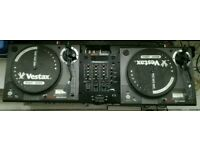 Vestax PDT 5000 Turntables and Gemini mixer
