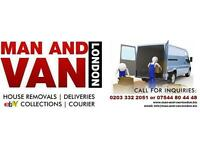 AVAILABLE at SHORT NOTICE 24/7 - MAN AND VAN HIRE - HOUSE OR OFFICE MOVE - COLLECTION OR DELIVERY