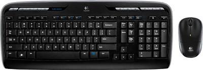 Logitech - MK320 Wireless Keyboard and Mouse - Black