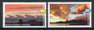 Germany Science Stamps 2020 MNH Clouds Lenticular Kelvin-Helmholtz Cloud 2v Set