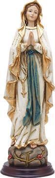 Heiligenfigur Madonna, Madonna Lourdes, Holzoptik, Höhe 40cm