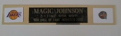 Magic Johnson engraved name plate