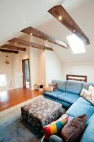 Wood barn beams. mantels coffee table and much more