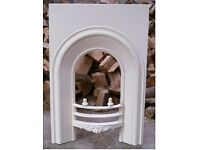 cast iron victorian fire place / fire arch